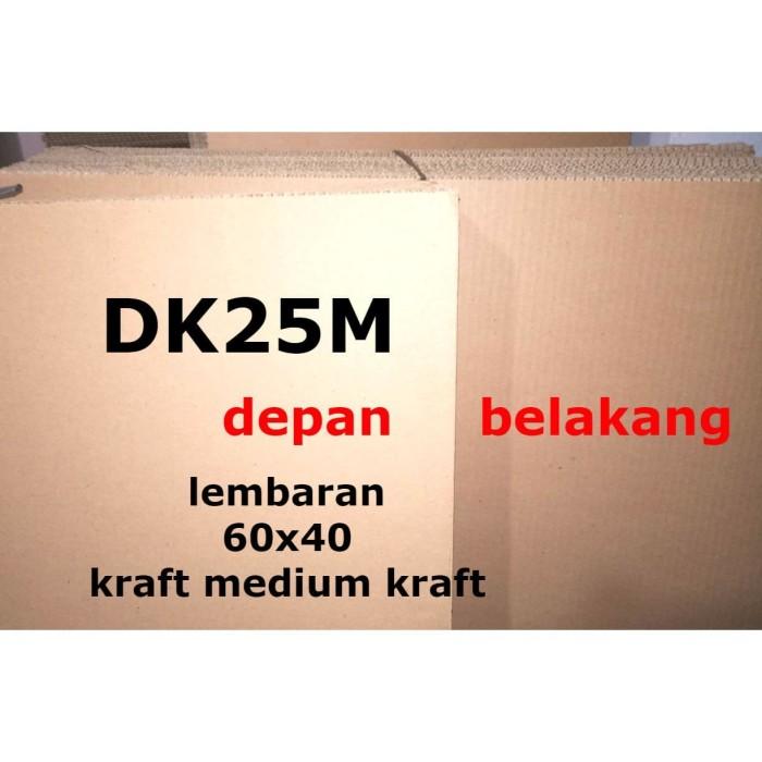Foto Produk DK25M Kardus Lembaran 60 x 40 Double Kraft Box Karton Polos Cokelat dari belimasbro(dot)com