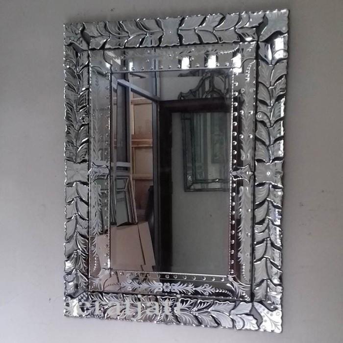 Foto Produk SERATJATI MIRROR - Cermin Hiasan Dinding Kaca Ukir Kamar Tamu Utama. dari SeratJatiHomeDecor