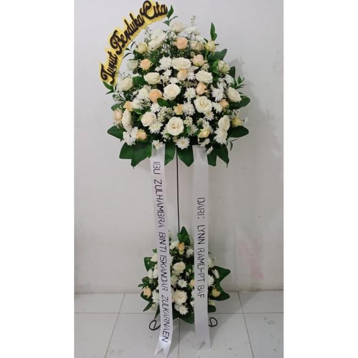 Jual Bunga Hias Standing Di Depok Ucapan Duka Cita Atau Belasungkawa Kota Bogor Asf Florist Tokopedia