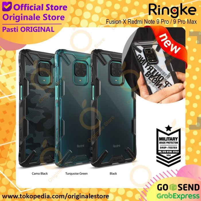 Foto Produk Ringke Fusion X Redmi Note 9 Pro / Note 9 Case Anti Crack Original - Hitam dari Originale Store