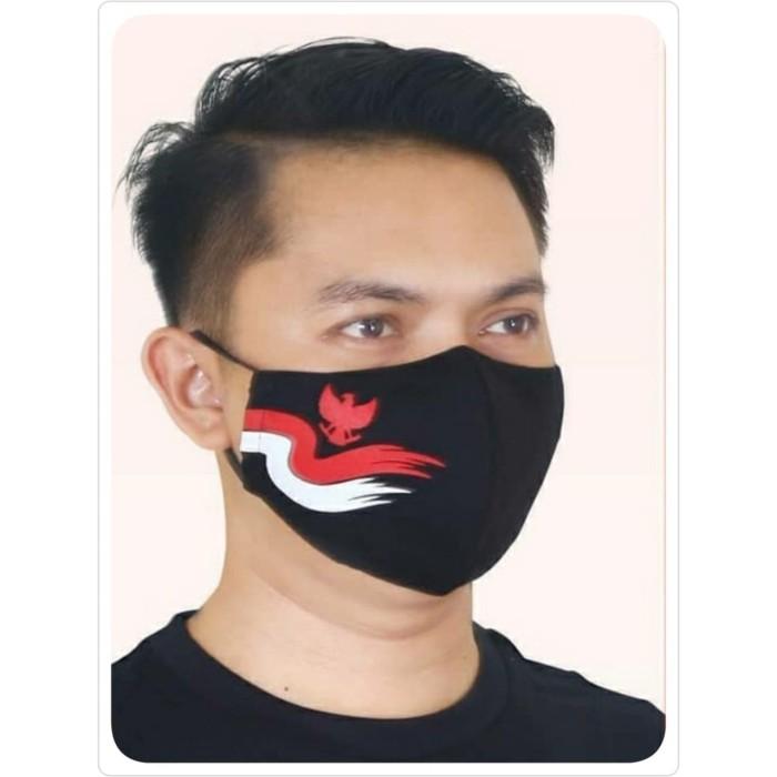 Foto Produk Masker Batik Keris Garuda Bendera Pita (Hitam) dari Kaia Boutique