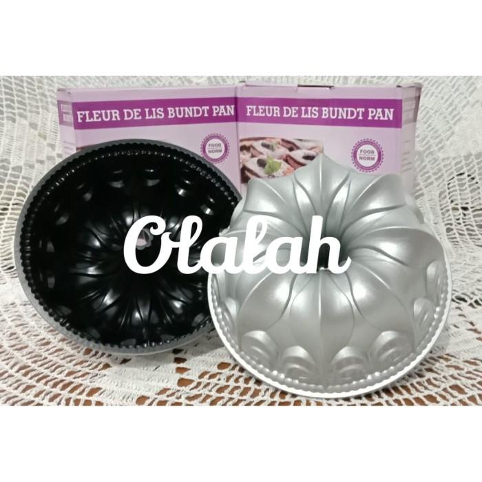 Foto Produk Loyang bundt cake Fleur De Lis 23.3cm x 9.8cm Almunium premium dari olalah.