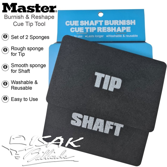 Foto Produk Master Cue Tip Tool - Burnish Reshape Sponge Alat Stick Shaft Billiard dari ISAK Billiard Sport Co.