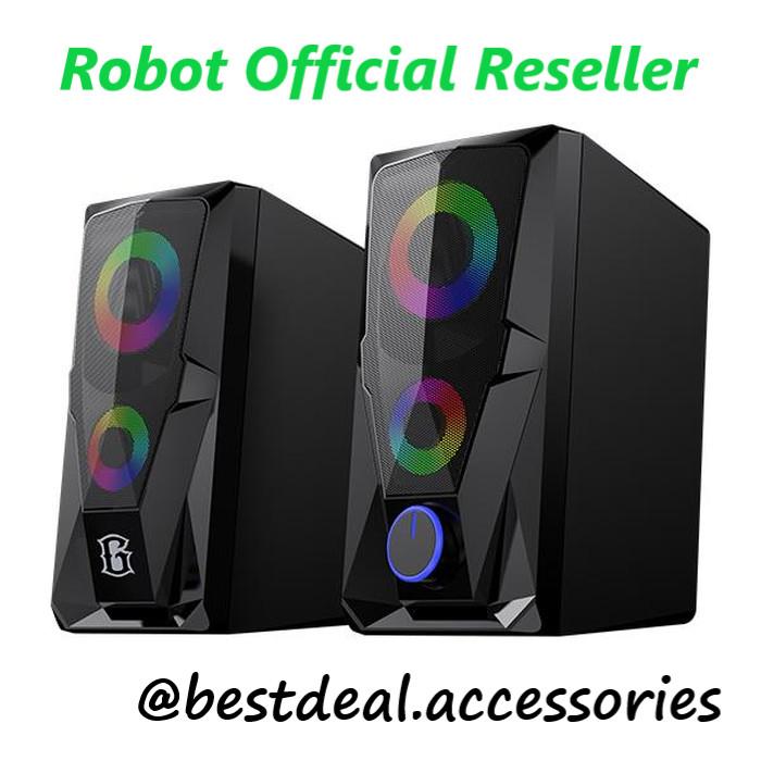 Foto Produk Robot RS200 E-Sport Gaming Speaker RGB Flow Lightning Effect with AUX dari Bestdeal Accessories