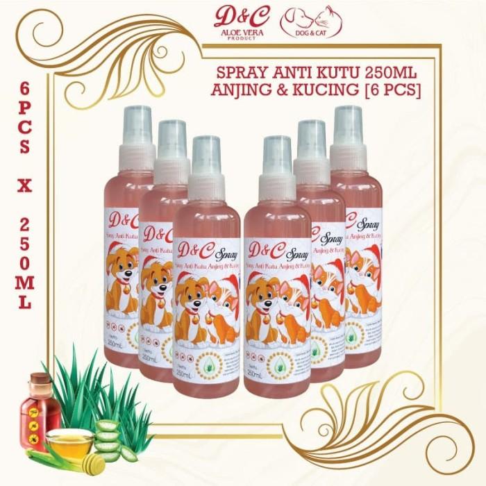 Foto Produk D&C Grosir Spray Anti Kutu Anjing & Kucing 6 Pcs - 250ML dari Produkkita