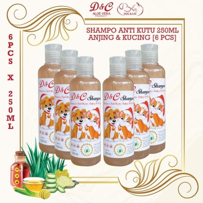 Foto Produk D&C Grosir Shampo Anti Kutu Anjing & Kucing 6 Pcs - 250ML dari Produkkita