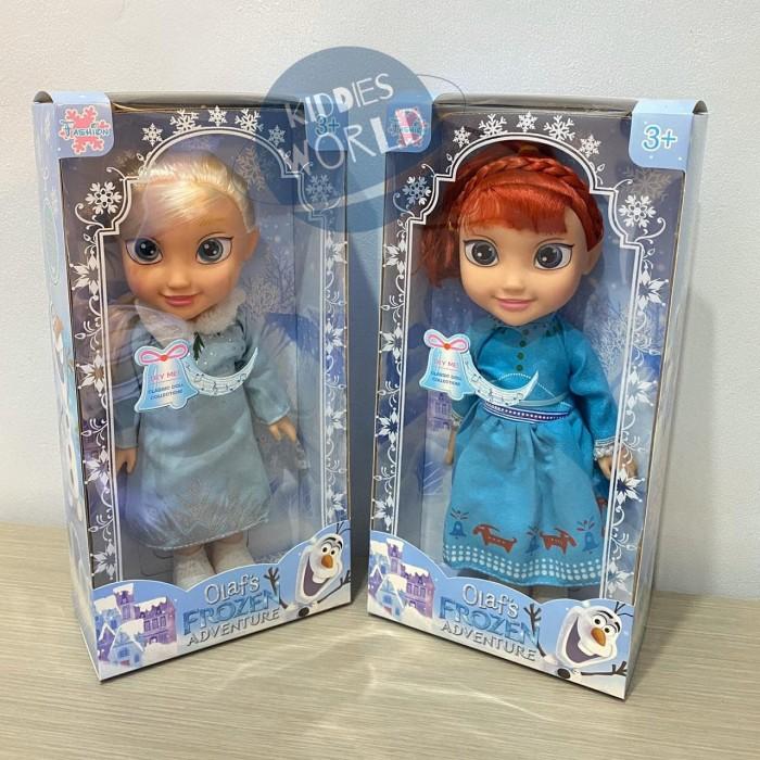 Foto Produk Mainan Anak Perempuan Boneka Nyanyi Frozen Anna Elsa Terbaru Doll - Anna dari Kiddies World