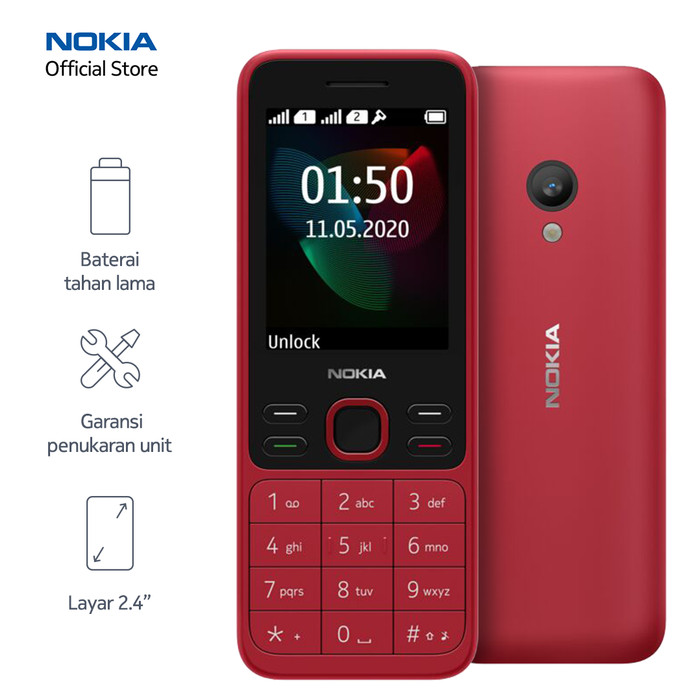 Foto Produk Nokia 150 (2020) – Red dari Nokia Official Store