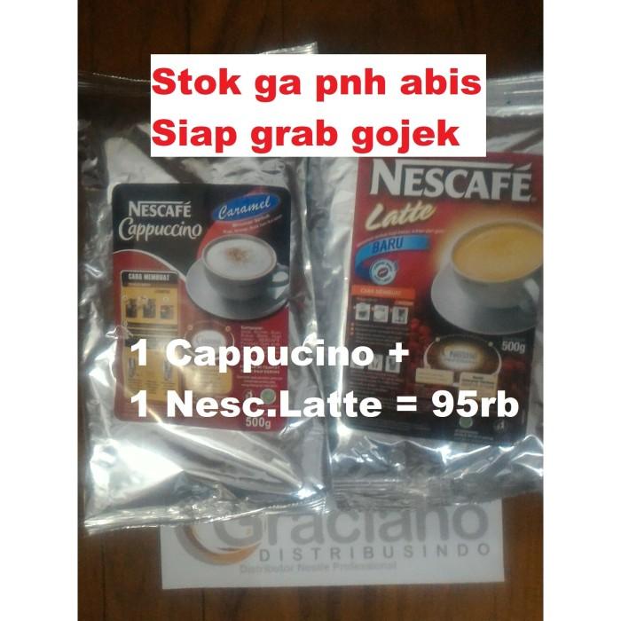 Foto Produk Promo Nescafe Latte 500gr + Cappuccino Cappucino Capucino Caramel 500g dari Graciano Distribusindo