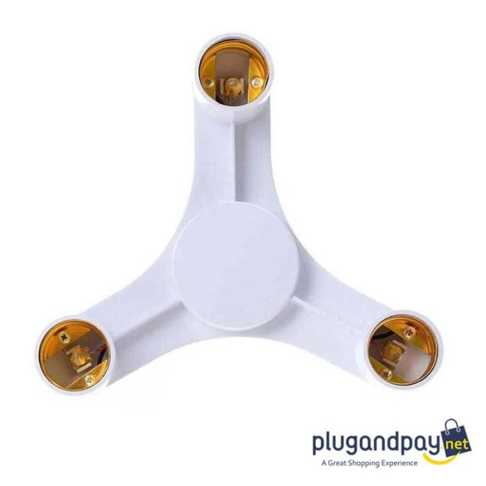 Foto Produk Fitting E27 Cabang 3 Lampu Dudukan Socket Mounting Bohlam Studio dari plugandpay