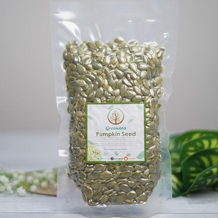 Foto Produk Pumpkin Seed 500gr / biji labu camilan sehat / pepita dari greenara.id