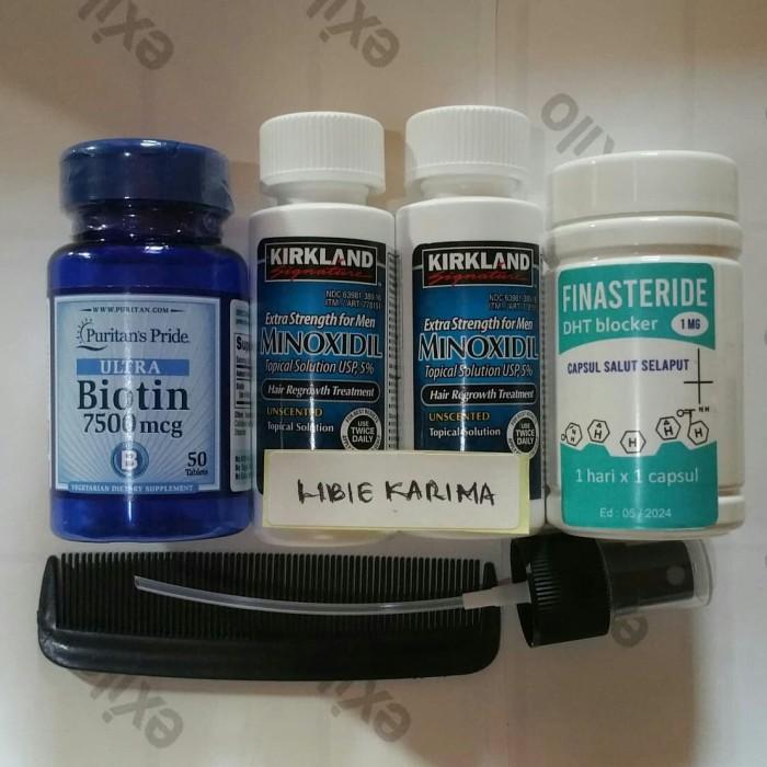 Jual Finasteride 1 Mg Isi 50 Capsl Biotin 7500 Mcg 2 Btl Minoxidil 5 Kota Semarang Libie Karima Shop Tokopedia