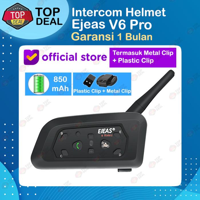 Foto Produk EJEAS V6 Pro Bluetooth Rider Intercom Vnetphone SENA 6 Riders Helmet dari Top Deal