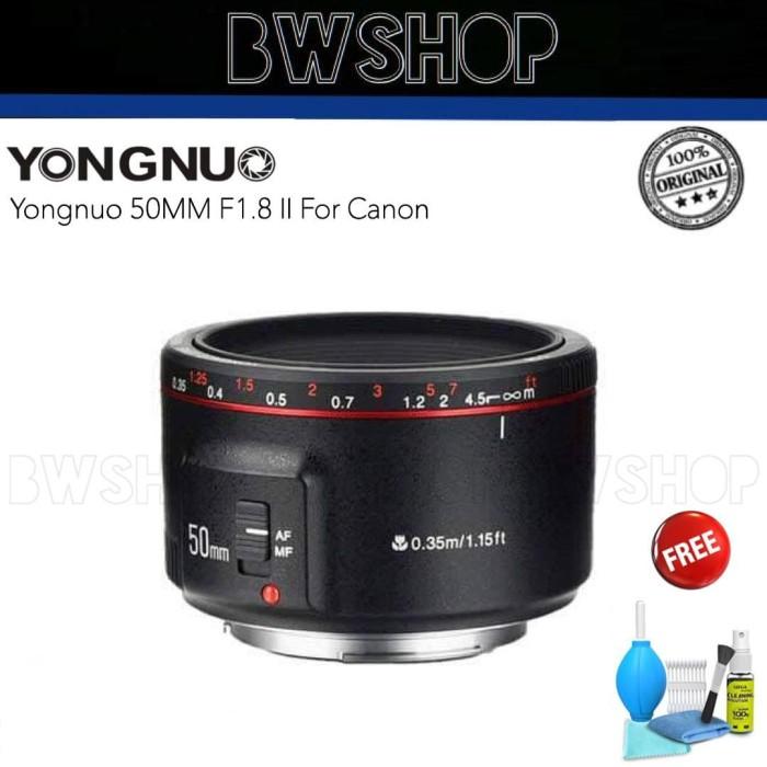 Foto Produk Yongnuo 50MM F1.8 Mark II For Canon - Lensa Yongnuo 50MM dari bw shop-