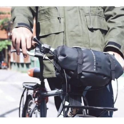 Foto Produk Tas Sepeda Handle Bar Brompton Pikes Ecosmo Seli Touring Red - Hitam dari The Pain Hunters