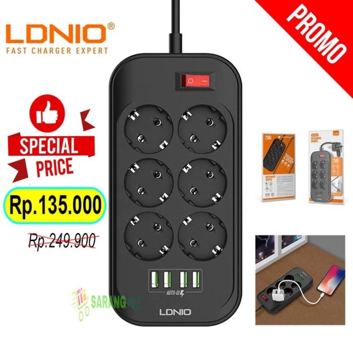 Foto Produk Original LDNIO Power Socket 6 Port USB 4 Port Stop Kontak dari SARANG ACC shop