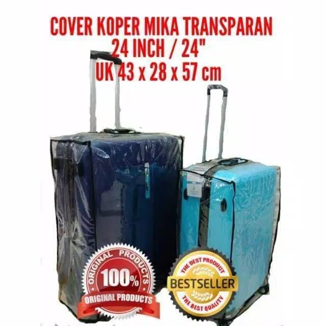 """Foto Produk 24"""" Cover Koper Sarung Pelindung Plastik Mika Transparant ukuran 24 in - Hitam dari rondep olshop"""
