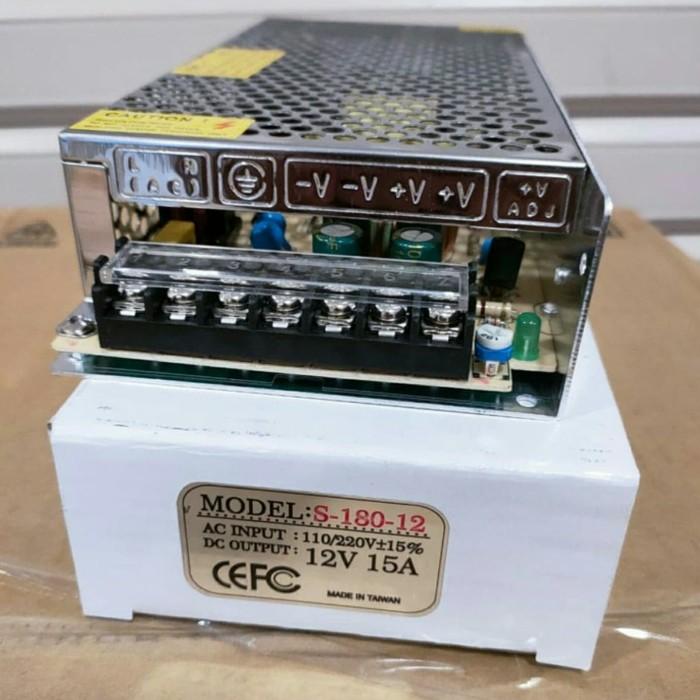 Foto Produk POWER SUPPLY 12V 15A PROMO , POWER SUPLAY 12V 15A dari gadgettekno shopn