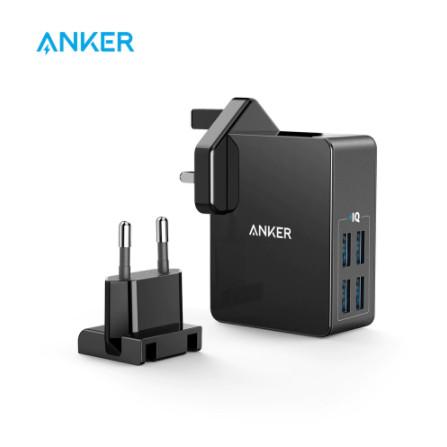 Foto Produk Anker 27W 4-Port USB Wall Charger PowerPort 4 Lite dari Dsound