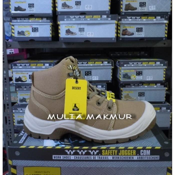 Foto Produk Sepatu Safety Jogger Desert Cream/Sand/Khaki S1P dari Mulia Komputer