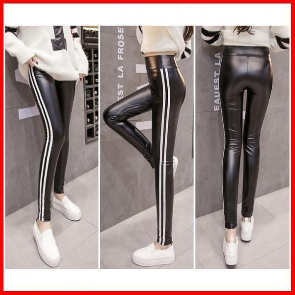 Jual Celana Panjang Legging Kulit Leather Wanita Pants Ab836680 List Import Jakarta Timur Riinaayu Tokopedia