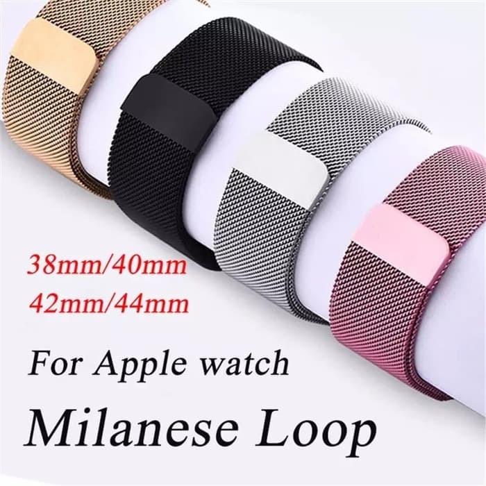 Foto Produk Strap Milanese Loop Apple Watch Iwatch series 1 2 3 4 5 38mm / 40mm dari wenz acc