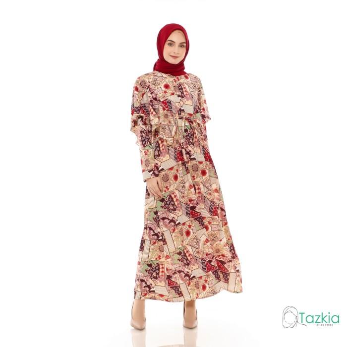 Foto Produk Dress Muslim Wanita | Hilya Maroon | Gamis Monalisa Original dari Tazkia Hijab Store