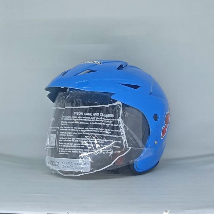 Helm Motor Anak Helmet Kids Kop Motif Kartun Hello Kitty MLA Biru SNI