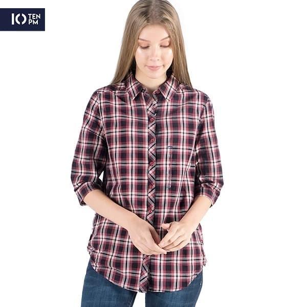 Foto Produk Kemeja Lengan 3/4 Wanita / Elastic Side Shirt 23021P5WD - 10PM - S dari Logo Jeans
