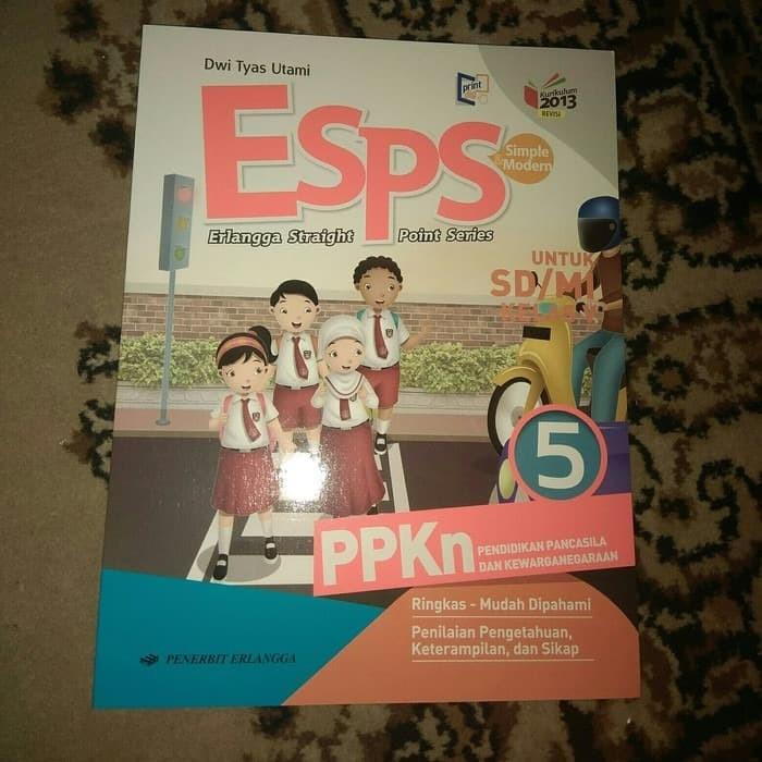 Jual Esps Ppkn Pkn Kelas 5 Sd Erlangga Kurikulum 2013 Jakarta Timur Toko Buku Melati Tokopedia