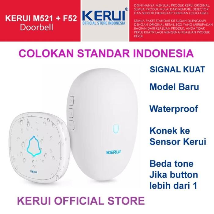 Foto Produk New Kerui M521 Wireless Doorbell Waterproof Beda Button beda Tone dari KERUI OFFICIAL STORE