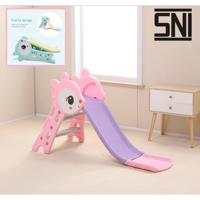 Foto Produk PROSOTAN anak bayi balita Murah Jerapah Rusa Pink perosotan dari Charu Toys