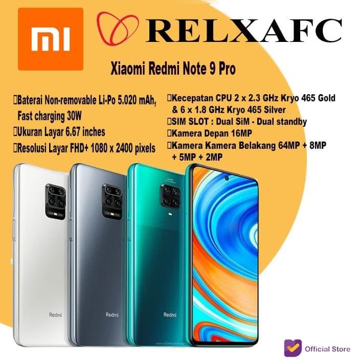 Promo Xiaomi Redmi Note 9 Pro 8 128 128gb 8 128 Gb Garansi Resmi Tam White Jakarta Barat Relx Afc Official Tokopedia