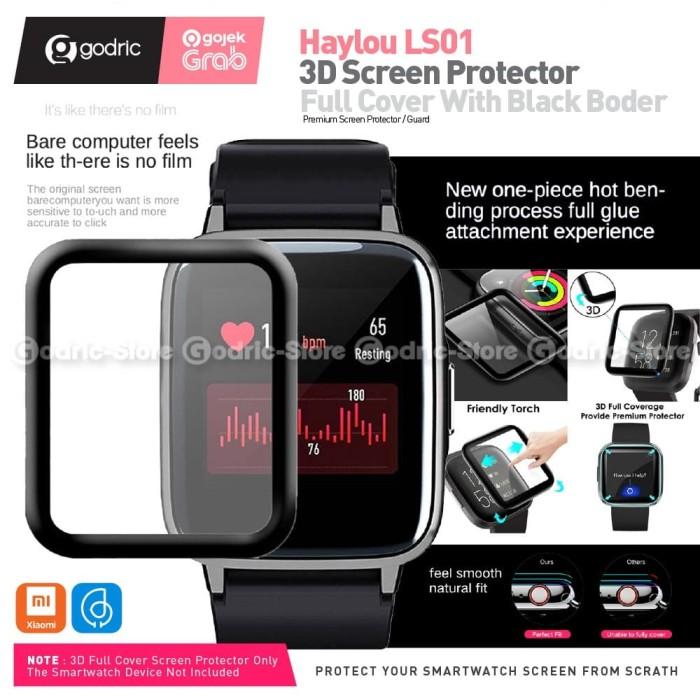 Foto Produk SIKAI ANTI GORES 3D CURVED Full Cover Screen Protector for Haylou LS01 dari Godric Store