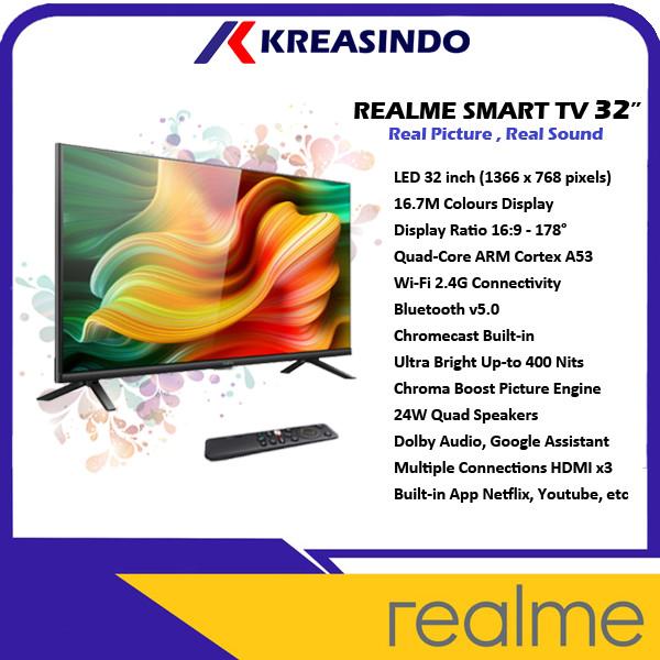 Foto Produk Realme Smart TV Android 32 Inch Garansi Resmi dari Kreasindo Online