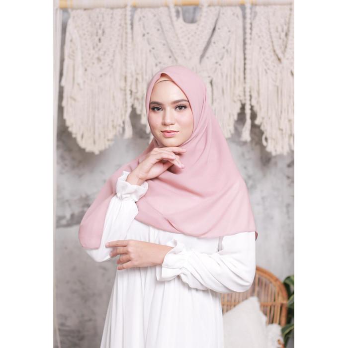 Promo Hijab Ellysha Cloudy Chic Hijab Square Peach Jakarta Timur Hijab Ellysha Official Tokopedia