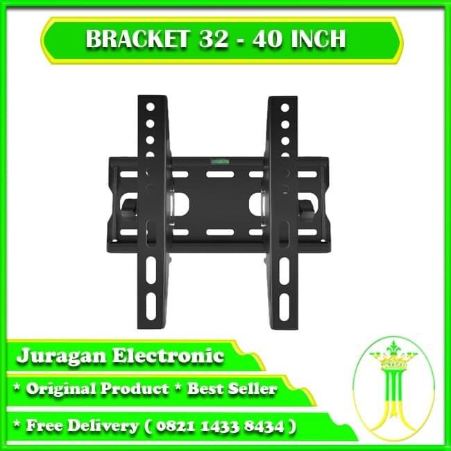 Foto Produk bracket tv led, brecket tv 20 inc - 32 inc Best Quality - hitam dari Juragan electronics