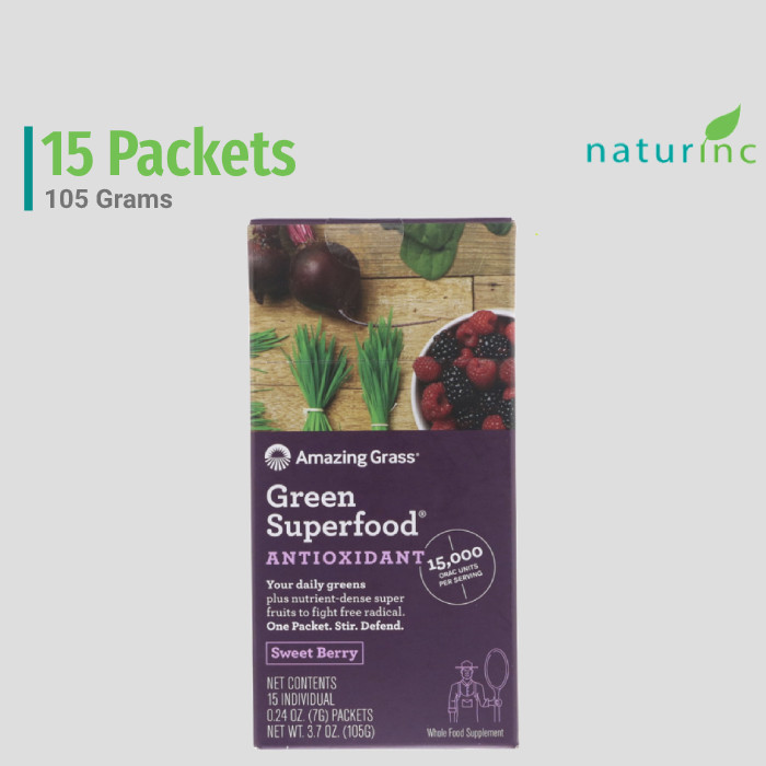Foto Produk Amazing Grass, Green Superfood Antioxidant, Sweet Berry, Detox dari Naturinc