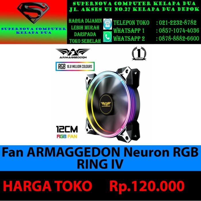 Foto Produk Fan Armaggedon Neuron RGB Ring IV Fan Armaggedon Neuron RGB Ring IV - dari Supernova Computer Ariet