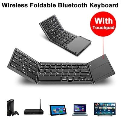 Foto Produk Foldable Keyboard Touchpad Wireless Bluetooth Lipat 3 dari Kiddies World
