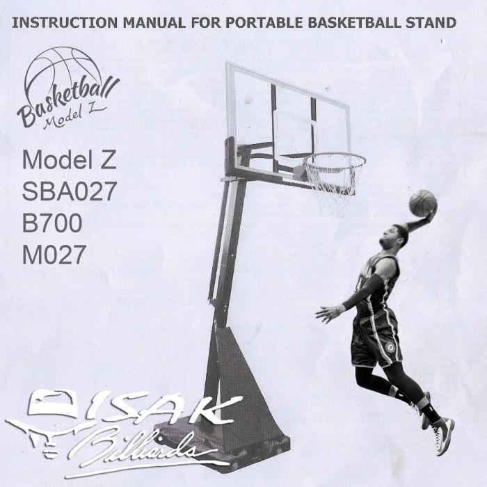 Foto Produk Buku Manual Cara Pasang Basketball Hoop Z SBA027 B700 Basket Ring M027 dari ISAK Billiard Sport Co.