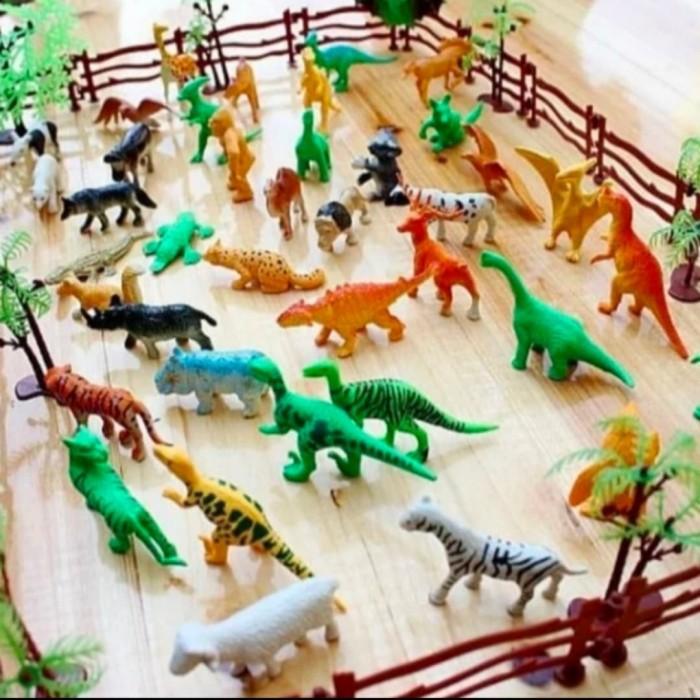 Foto Produk Mainan Anak set Miniatur Dinosaurus dan Kebun binatang/ Zoo Animal dari AUTO KID II