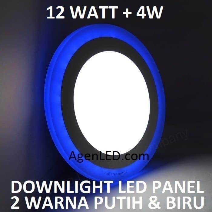 Foto Produk Lampu Downlight LED Panel 12W 12 W Watt INBOW PUTIH BIRU BULAT 2 WARNA dari AgenLED