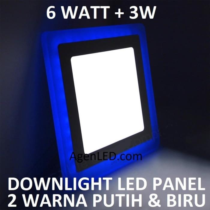 Foto Produk Lampu Downlight LED Panel 6W 6 W Watt INBOW PUTIH BIRU KOTAK 2 WARNA dari AgenLED