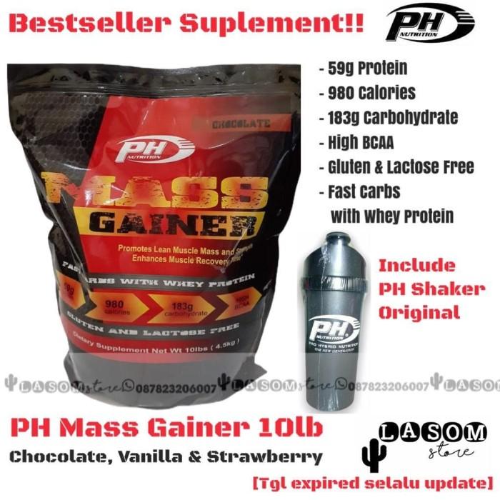 Foto Produk PH Mass Gainer 10lb Penambah Berat Badan Massa Otot Gym Fitness - Chocolate dari LASOM store