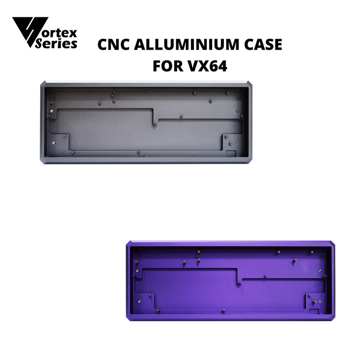 Foto Produk Full CNC Allumunium Case Keyboard For VX64 - Gray dari VortexSeries