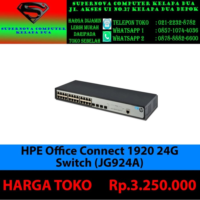 Foto Produk HPE OfficeConnect 1920 24G Switch (JG924A) dari Supernova Computer Ariet