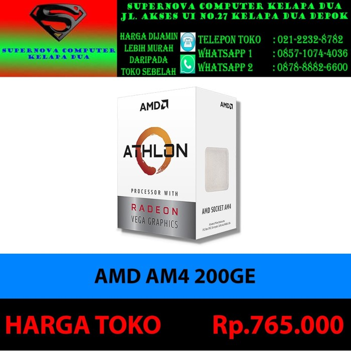 Foto Produk AMD AM4 200GE dari Supernova Computer Ariet