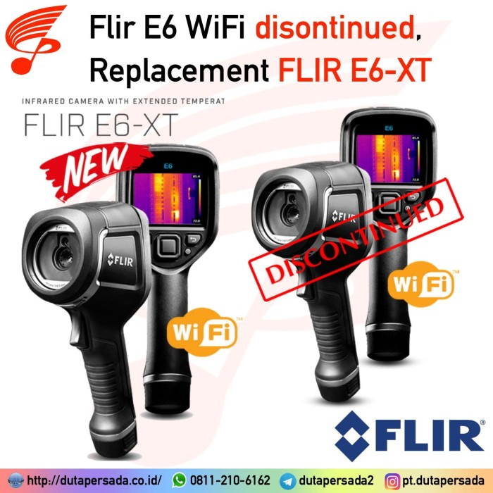 Foto Produk Flir E6 with WiFi (NEW MODEL) Thermal Imaging Camera / Thermal Imager dari DUTA PERSADA Instruments
