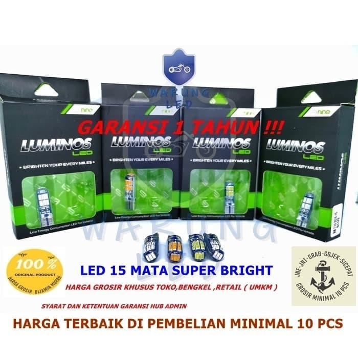 Foto Produk Lampu LED T10 9nine Luminos senja sein plat mundur 15 Titik ( set ) - Putih dari WARUNG_LED